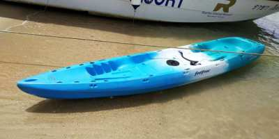 Kayak for sale . Very good condition . +2 seats+2 paddles+2 Jackets !!