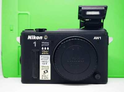 Nikon 1 AW1 GPS Waterproof, Shockproof Freezeproof Digital Camera