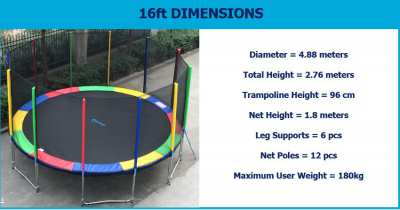 Trampoline 2nd hand for sale - good condition. ubon ratchathani.