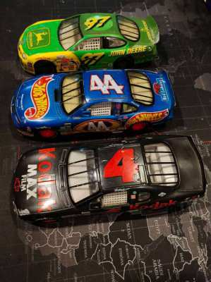 3 NASCAR Large Scale (1/32) Hot Wheels from 1999