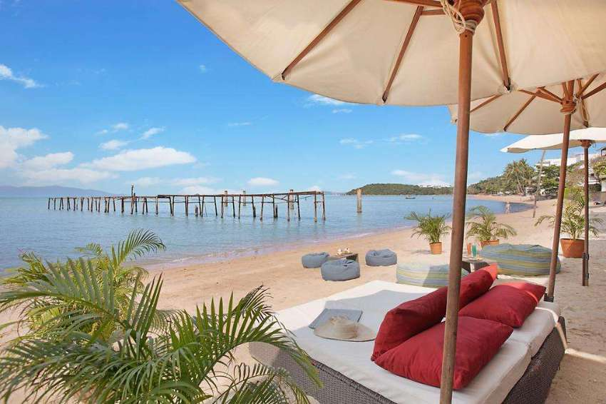 4 STORY BEACHFRONT HOTEL RESTAURANT SAMUI FISHERMAN'S VILLAGE