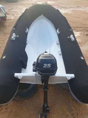 Highfield UL260 Dinghy+sunbrella cover Not incl 2.5HP Suzuki Outboard