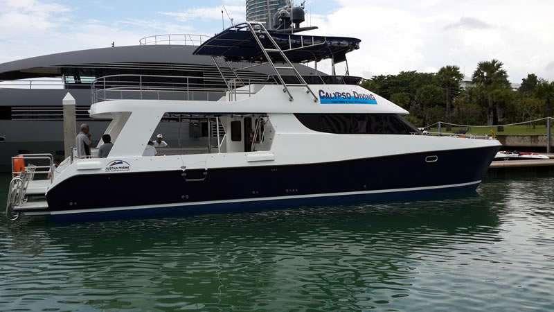 High speed catamaran for up to 72 passenger