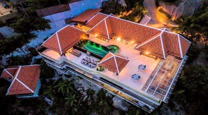 For sale villa with superb sea view in Taling Ngam Koh Samui