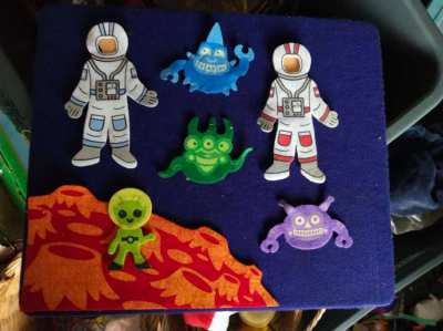 Felt Board With Astronauts