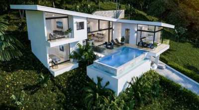 For sale sea view pool villa in Choeng Mon Koh Samui - 4 bedroom