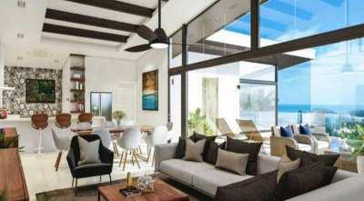 For sale sea view pool villa in Choeng Mon Koh Samui - 4 bedroom