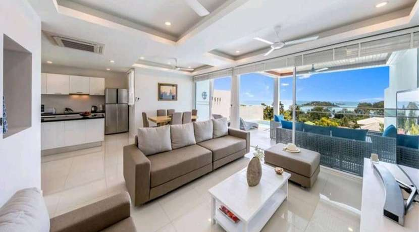 For sale 3 bedroom sea view pool villa in Choeng Mon Koh Samui