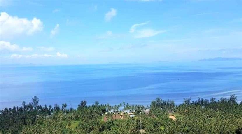 For sale sea view land in Bang Makham Koh Samui 1600sqm/2400sqm