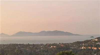 For sale 1.824 sqm sea view land in Bophut Koh Samui