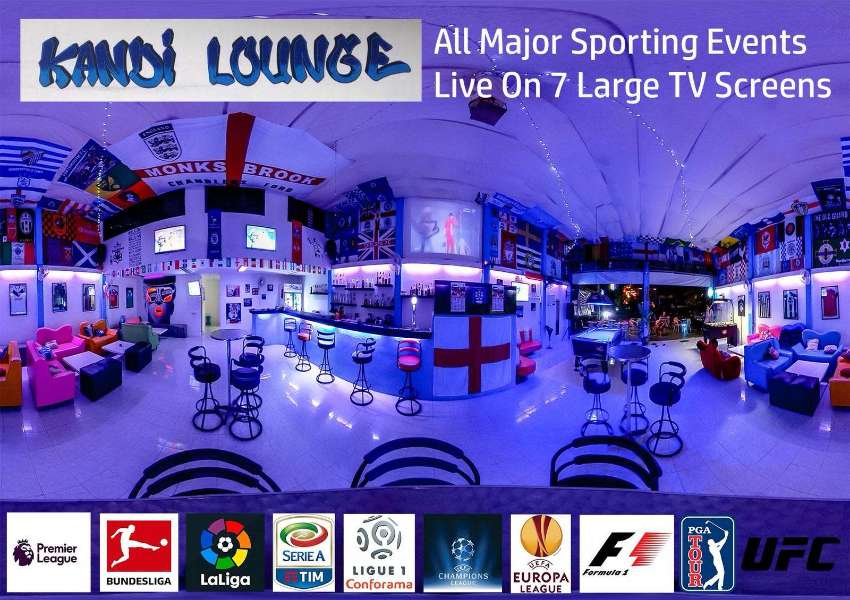 Sports bar and grill with small hostel