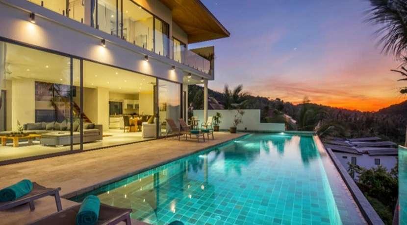 For sale 6 bedroom sea view villa in Bang Por Koh Samui