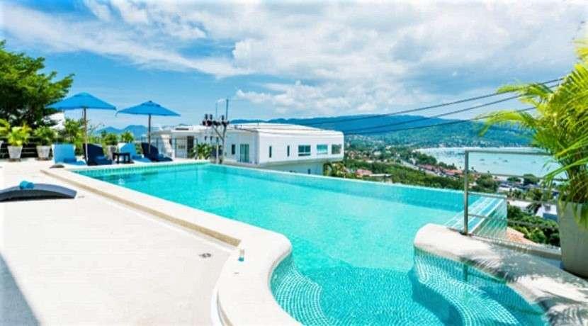 For sale 3 bedroom villa with sea view in Bangrak Koh Samui