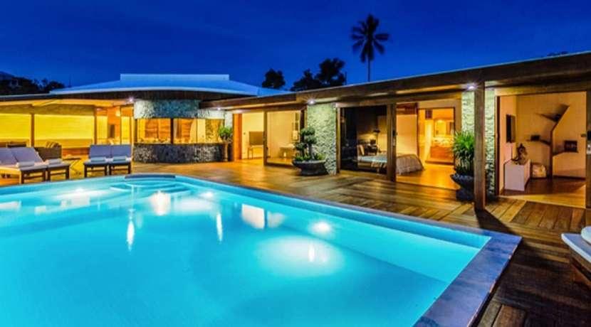 For sale 4 bedroom sea view villa in Plai Laem Koh Samui