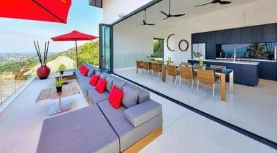 For sale 6 bedroom sea view villa in Bophut Koh Samui