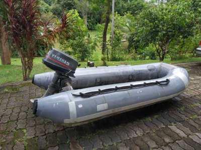 Hypalon - Fiber boats  2,7 m + Yamaha 5p for sale.
