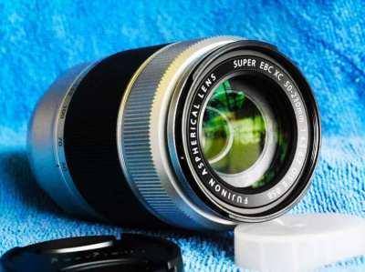Fujifilm Fuji Fujinon XC 50-230mm F4.5-6.7 OIS II Silver Lens in Box