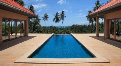 For sale 5 bedroom pool sea view villa in Bang Por Koh Samui