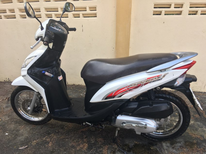 Honda Spacy 110cc White.