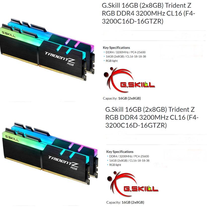 skill ddr4 32 gb memory for desktop