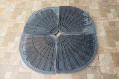 Patio parasol base weights