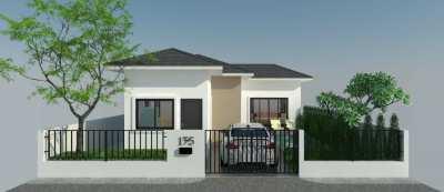 ขายบ้านใหม่ พร้อมสระว่ายน้ำ พื้นที่อาศัย  68 - 133 ตารางเมตร 2  ห้องนอ
