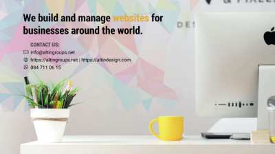 We build and manage websites for businesses around the world