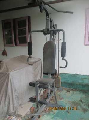 G Sport exercise bike & weight lifting machine.