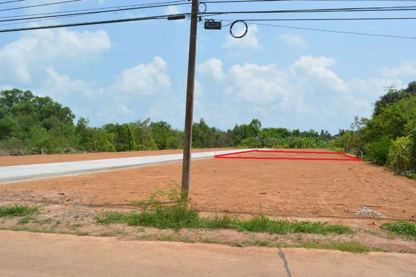 4 land plots for sale! Invest in land close to the beach in Rayong!