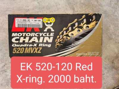 Brand New red EK 520-120 link X-ring chain