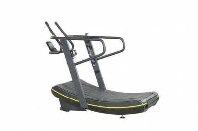 Curved treadmill with magnetic gear