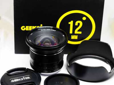 Geekster 12mm f2.8 Ultra Wide-Angle Lens in Box for Sony E mount