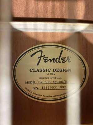 Fender CN60S Nylon Strung Classical Guitar (Natural) w/ Gator hardcase
