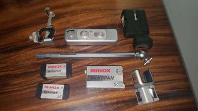 Minox model B Vintage Spy Camera with rare accessories