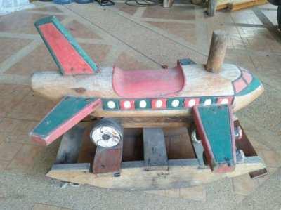 old wooden rocking plane