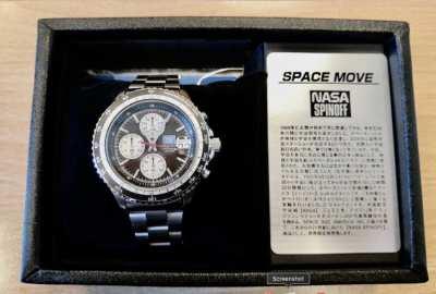 Seiko Nasa Spin off Space Move Shuttle Tile Dial Apollo 11 Lockheed.