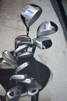 3 sets of golf clubs available