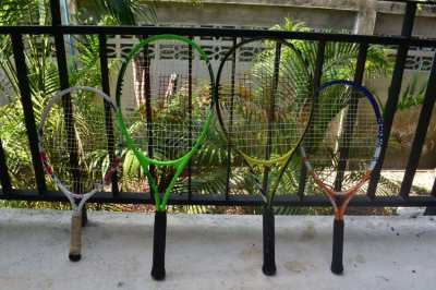 Family set of tennis racquets for sale - Wilson and Babolar