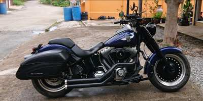 Harley Davidson Fatboy Lo Blacked Out