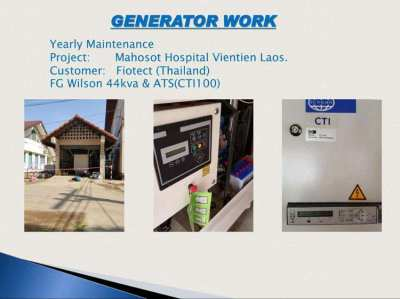 Sale, installation and service Generator System