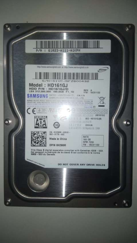 Samsung HDD HD161GJ/D 160GB 3.5