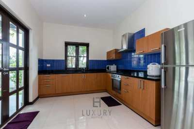 Luxury 3 bedroom pool villa featuring a separate living room