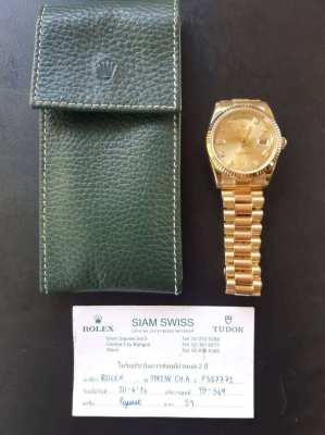 Rolex Oyster Perpetual Day Date Gold with Diamond 118238 CH A