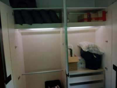 High quality double wardrobe with internal light and drawers. Please p