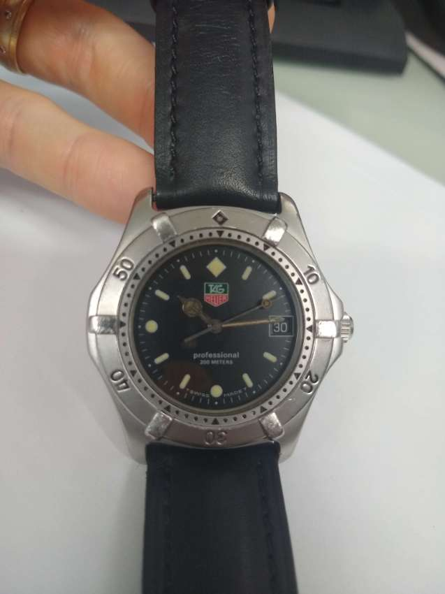 Tag Heuer King Size 2000 Series Black Dial Watch