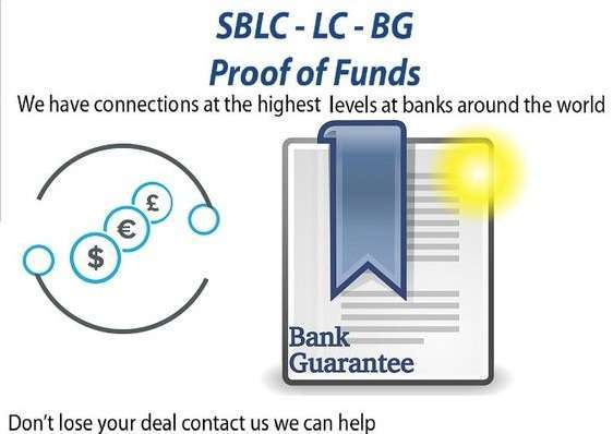 Bank Guarantee/SBLC/MT760,Financing,Loan,Monetizing,PPP Trading + More