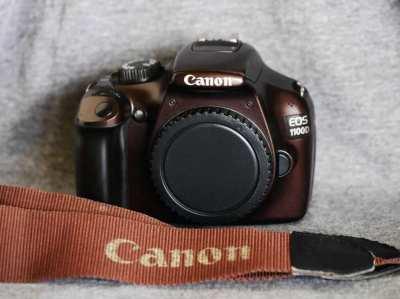 Canon EOS 1100D (Rebel T3) DSLR Bronze, Brown body