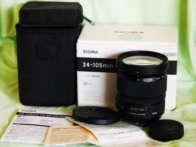 Sigma Art 24-105mm F/4 DG OS HSM (for Nikon AF mount) Black Zoom Lens