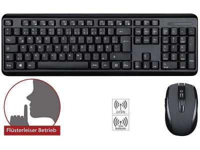 German wireless keyboard / mouse combination 2.4 GHz, 10m range