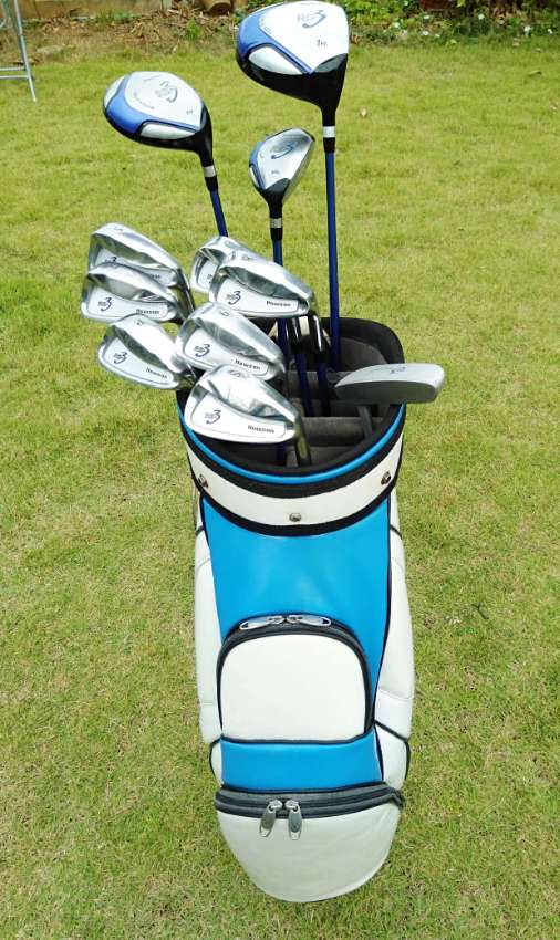 Golf clubs, full set of men's golf clubs in bag